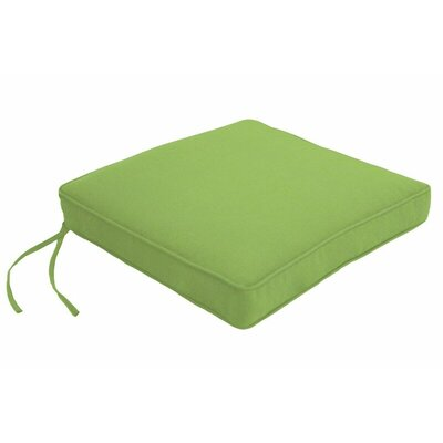 Outdoor Sunbrella Dining Chair Cushion Fabric: Canvas Ginkgo