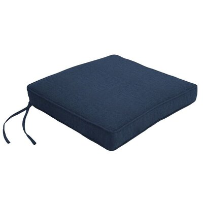 Outdoor Sunbrella Dining Chair Cushion Fabric: Spectrum Indigo