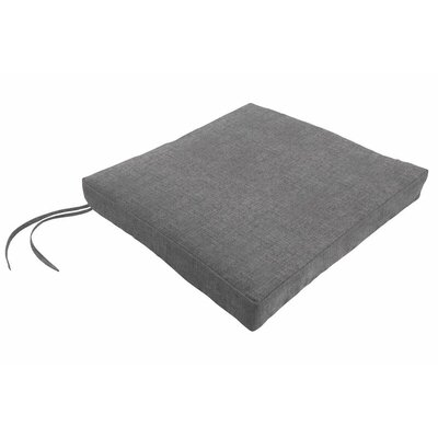 Sunbrella Dining Chair Cushion Fabric: Cast Slate