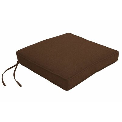 Outdoor Sunbrella Dining Chair Cushion Fabric: Spectrum Coffee