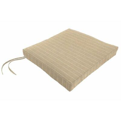 Sunbrella Dining Chair Cushion Fabric: Francois Parchment