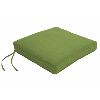 Outdoor Sunbrella Dining Chair Cushion Fabric: Spectrum Cilantro