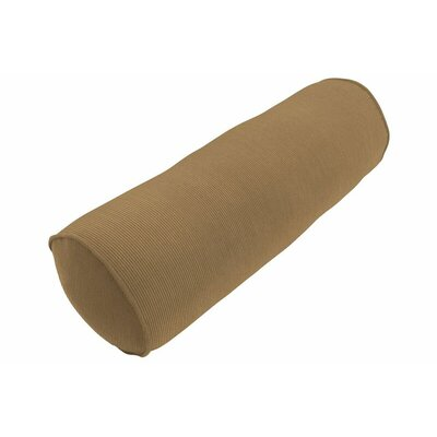 Sunbrella Single Piped Bolster Pillow Color: Spectrum Caribou