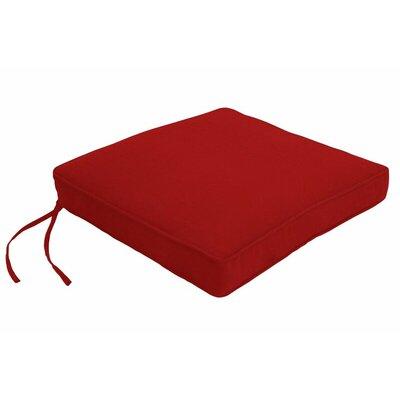 Outdoor Sunbrella Dining Chair Cushion Fabric: Canvas Jockey Red