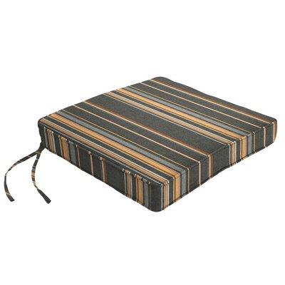 Outdoor Sunbrella Dining Chair Cushion Fabric: Stanton Greystone