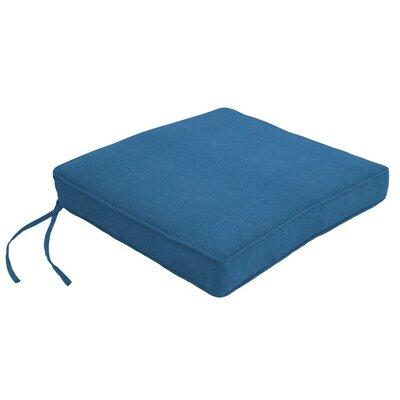 Outdoor Sunbrella Dining Chair Cushion Fabric: Canvas Regatta