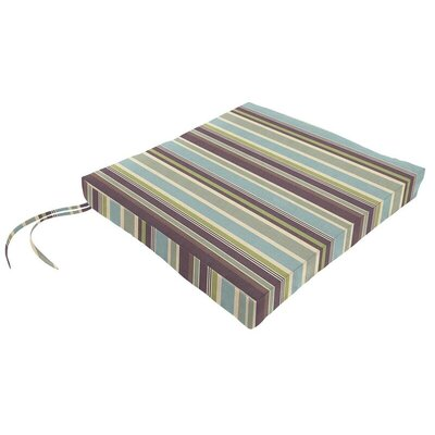 Sunbrella Dining Chair Cushion Fabric: Brannon Whisper
