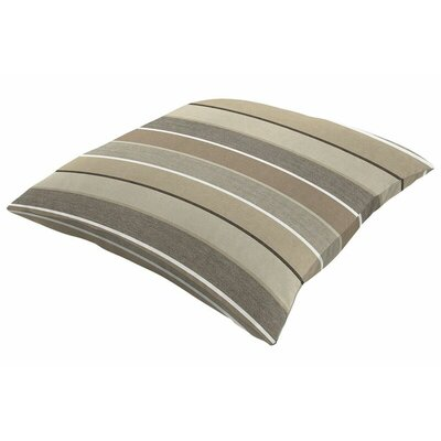 Sunbrella Knife Edge Throw Pillow Size: 16 H x 16 W, Color: Milano Char