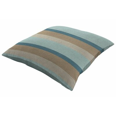 Sunbrella Knife Edge Throw Pillow Size: 18 H x 18 W, Color: Gateway Mist
