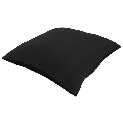 Sunbrella Knife Edge Lumbar Pillow Size: 18 H x 12 W, Color: Canvas Black