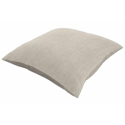 Sunbrella Knife Edge Throw Pillow Color: Cast Silver, Size: 24 H x 24 W