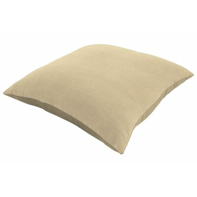 Sunbrella Knife Edge Throw Pillow Color: Spectrum Sand, Size: 22 H x 22 W