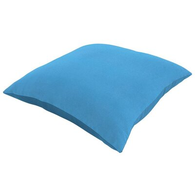 Sunbrella Knife Edge Lumbar Pillow Size: 18 H x 12 W, Color: Canvas Capri