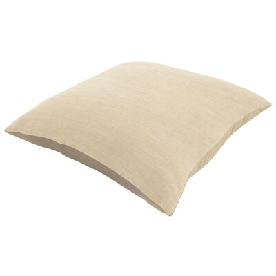Sunbrella Knife Edge Lumbar Pillow Size: 18 H x 12 W, Color: Canvas Flax