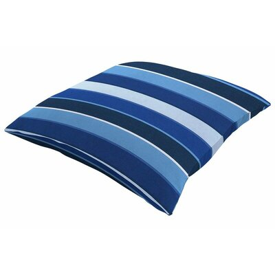 Sunbrella Knife Edge Throw Pillow Size: 18 H x 18 W, Color: Milano Cobalt