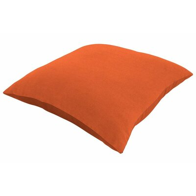 Sunbrella Knife Edge Throw Pillow Size: 18 H x 18 W, Color: Spectrum Cayenne