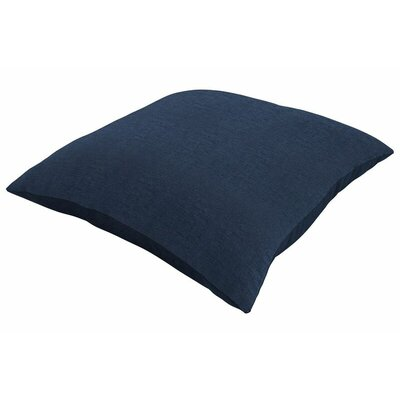 Sunbrella Knife Edge Throw Pillow Color: Spectrum Indigo, Size: 16 H x 16 W