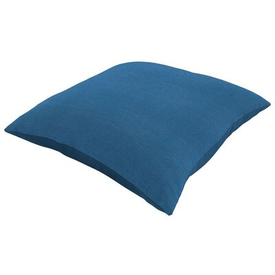 Sunbrella Knife Edge Lumbar Pillow Size: 18 H x 12 W, Color: Canvas Regatta