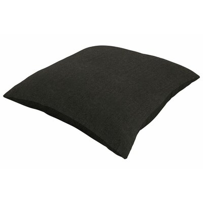 Sunbrella Knife Edge Throw Pillow Size: 22 H x 22 W, Color: Spectrum Carbon