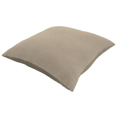 Sunbrella Knife Edge Lumbar Pillow Size: 18 H x 12 W, Color: Canvas Taupe