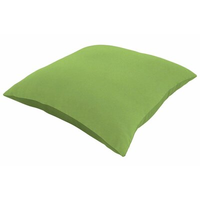 Sunbrella Knife Edge Lumbar Pillow Size: 18 H x 12 W, Color: Canvas Ginkgo