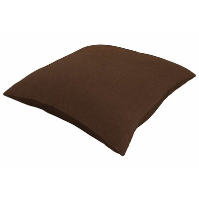 Sunbrella Knife Edge Throw Pillow Color: Spectrum Coffee, Size: 24 H x 24 W