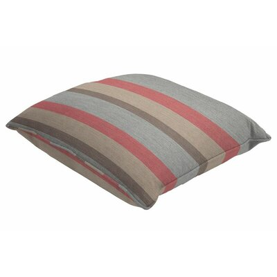 Sunbrella Single Piped Throw Pillow Size: 18 H x 18 W, Color: Gateway Blush