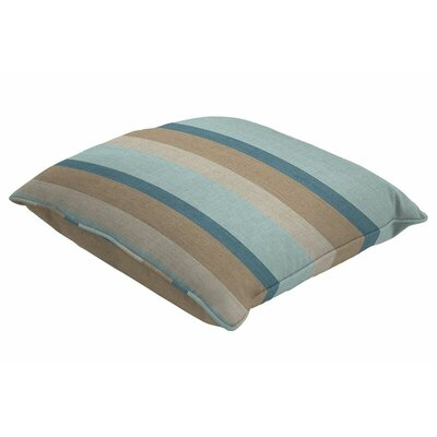 Outdoor Sunbrella Single Piped Lumbar Pillow Color: Gateway Mist, Size: 13 H x 21 W