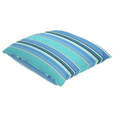 Sunbrella Single Piped Throw Pillow Size: 18 H x 18 W