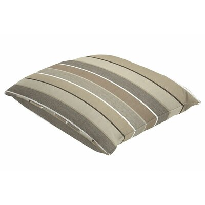 Sunbrella Single Piped Throw Pillow Size: 24 H x 24 W, Color: Milano Char