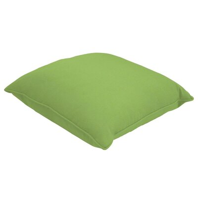 Sunbrella Single Piped Lumbar Pillow Size: 18 H x 24 W, Color: Canvas Ginkgo