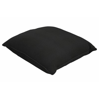 Sunbrella Single Piped Lumbar Pillow Size: 18 H x 24 W, Color: Canvas Black