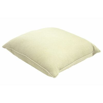 Sunbrella Single Piped Lumbar Pillow Size: 18 H x 24 W, Color: Canvas Natural
