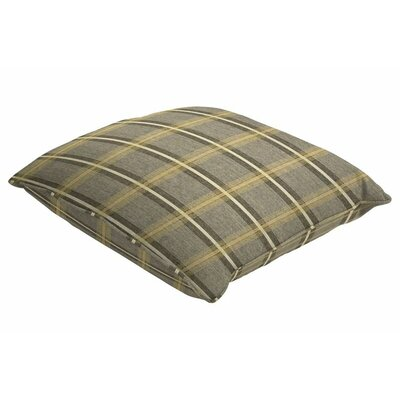 Sunbrella Single Piped Throw Pillow Color: Holmes Flannel, Size: 18 H x 18 W