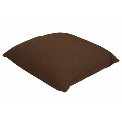 Sunbrella Single Piped Throw Pillow Color: Spectrum Coffee, Size: 24 H x 24 W