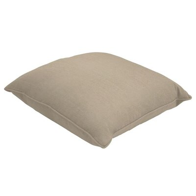 Sunbrella Single Piped Lumbar Pillow Size: 18 H x 24 W, Color: Canvas Taupe