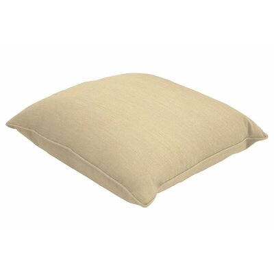 Sunbrella Single Piped Throw Pillow Color: Spectrum Sand, Size: 16 H x 16 W