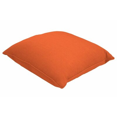 Sunbrella Single Piped Throw Pillow Color: Spectrum Cayenne, Size: 24 H x 24 W