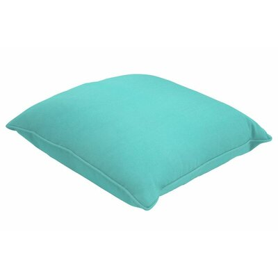 Sunbrella Single Piped Lumbar Pillow Color: Canvas Aruba, Size: 13 H x 21 W