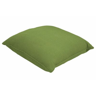 Sunbrella Single Piped Throw Pillow Color: Spectrum Cilantro, Size: 24 H x 24 W