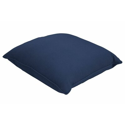 Sunbrella Single Piped Lumbar Pillow Size: 18 H x 24 W, Color: Canvas Navy