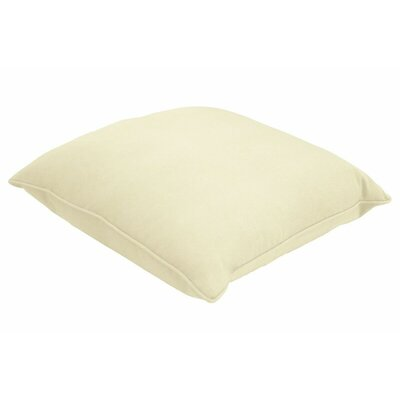 Sunbrella Single Piped Lumbar Pillow Size: 18 H x 24 W, Color: Canvas Canvas