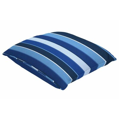 Sunbrella Single Piped Throw Pillow Size: 18 H x 18 W, Color: Milano Cobalt