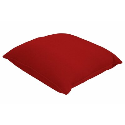 Sunbrella Single Piped Lumbar Pillow Size: 18 H x 24 W, Color: Canvas Jockey Red