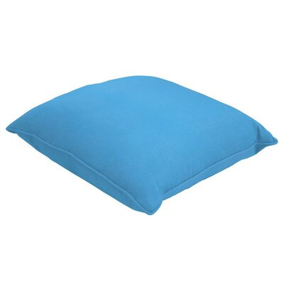 Sunbrella Single Piped Lumbar Pillow Size: 13 H x 21 W, Color: Canvas Capri