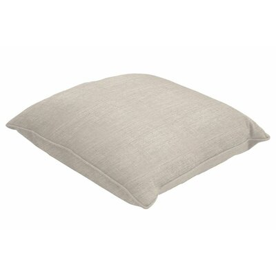 Sunbrella Single Piped Throw Pillow Color: Cast Silver, Size: 16 H x 16 W
