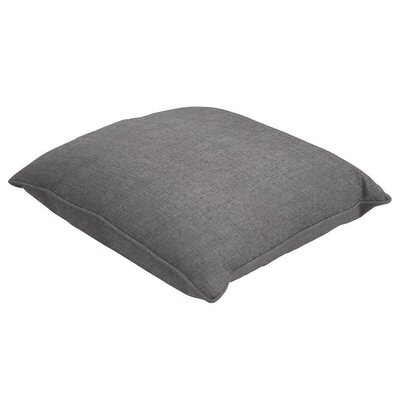Sunbrella Single Piped Throw Pillow Color: Cast Slate, Size: 16 H x 16 W
