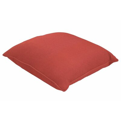 Sunbrella Single Piped Lumbar Pillow Size: 18 H x 24 W, Color: Canvas Henna