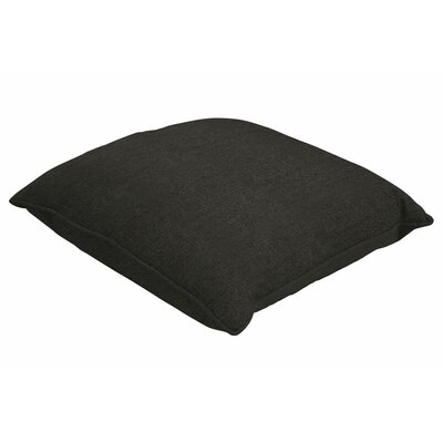 Sunbrella Single Piped Throw Pillow Color: Spectrum Carbon, Size: 24 H x 24 W