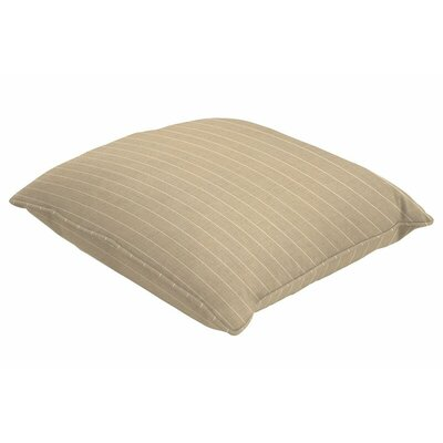 Sunbrella Single Piped Throw Pillow Size: 16 H x 16 W